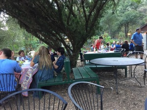 Part of the charming picnic area.  Photo by Karen Salkin.