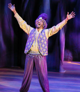 Jay Donnell as the Genie. Photo by Cathy Cunningham.