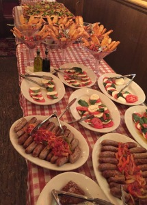 Just some of the food at the Buca di Beppo party!  Photo by Karen Salkin.