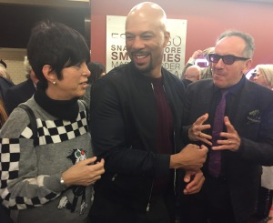 Diane Warren, Common, and Elvis Costello.  Photo by Karen Salkin.