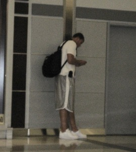 Blake Griffin at JFK in 2009.  Photo by Karen Salkin.