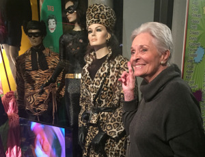 Lee Meriwether, standing next to a mannequin of her character. Photo by Karen Salkin.