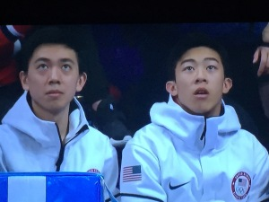 Vincent Zhou and Nathan Chen. Photo by Karen Salkin.