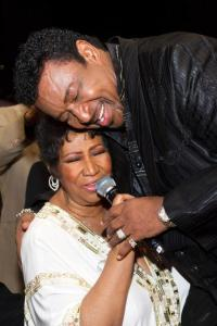 Speaking of which...Dennis Edwards with Aretha Frankln.