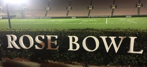 The Rose Bowl field, up-close and personal! Photo by Karen Salkin.