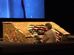 Ed Vodika playing the Mighty Wurlitzer Organ at the El Capitan. Photo by Karen Salkin.