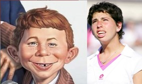 The resemblance between Carla Suarez-Navarro and Alfred E. Newman.  This pic isn't to make of her; I think she's cute.  And I was rooting for her all the way!