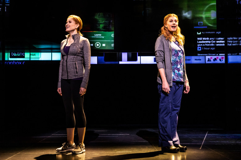The mothers: Christiane Noll and Jessica Phillips. Photo by Matthew Murphy.