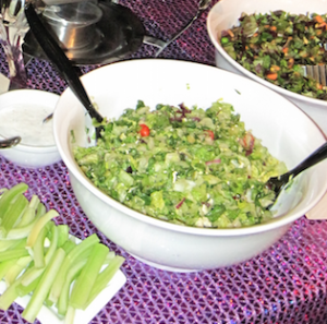 A bit of the Fresh Brothers salads from my last b-day fete!  Photo by Karen Salkin.