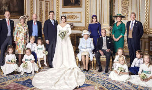 The whole bridal family.  And kids, too, of course.