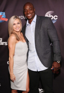 DeMarcus Ware and Lindsay Arnold, who should have come in third, for his smile alone!