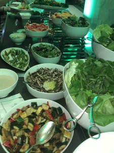 Part of the salad selections. Photo by Karen Salkin.