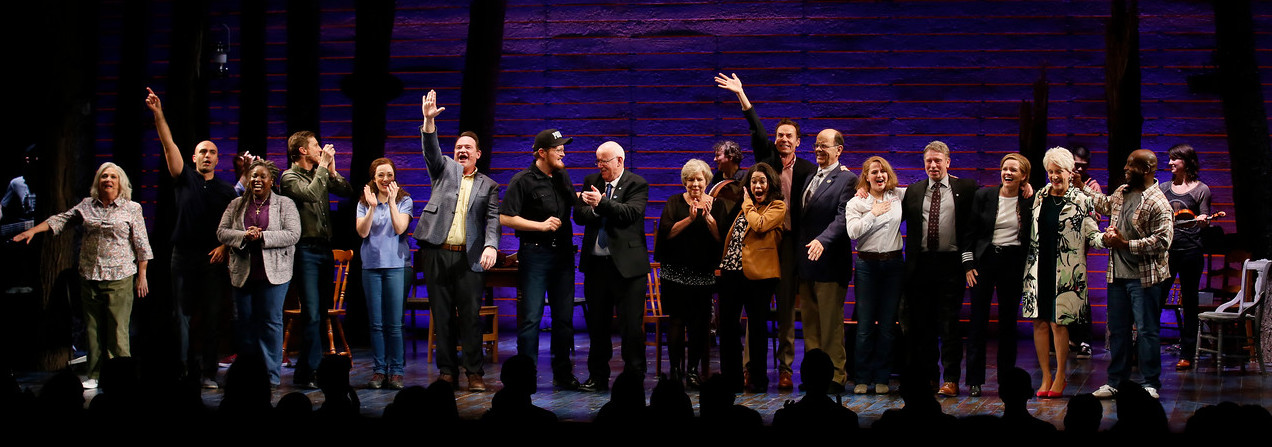The opening night curtain call, with some of the real people this musical is about.  Photo by Ryan Miller.