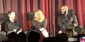 Christian Bale, Amy Adams, and Tyler Perry. Photo by Karen Salkin.