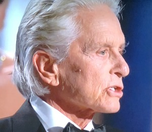 Michael Douglas, with his nose hair and unkempt eyebrows. Photo by Karen Salkin.