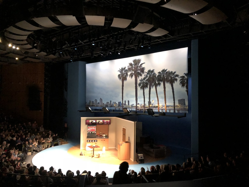 The set from on high. Photo by Karen Salkin.
