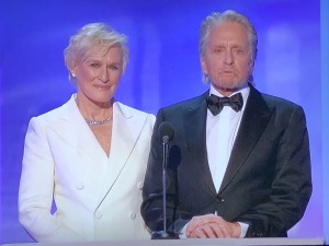 Glenn Close and Michael Douglas.  Photo by Karen Salkin.