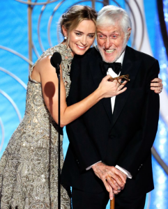 Emily Blunt and the amazing Dick Van Dyke. My favorite image of the night!