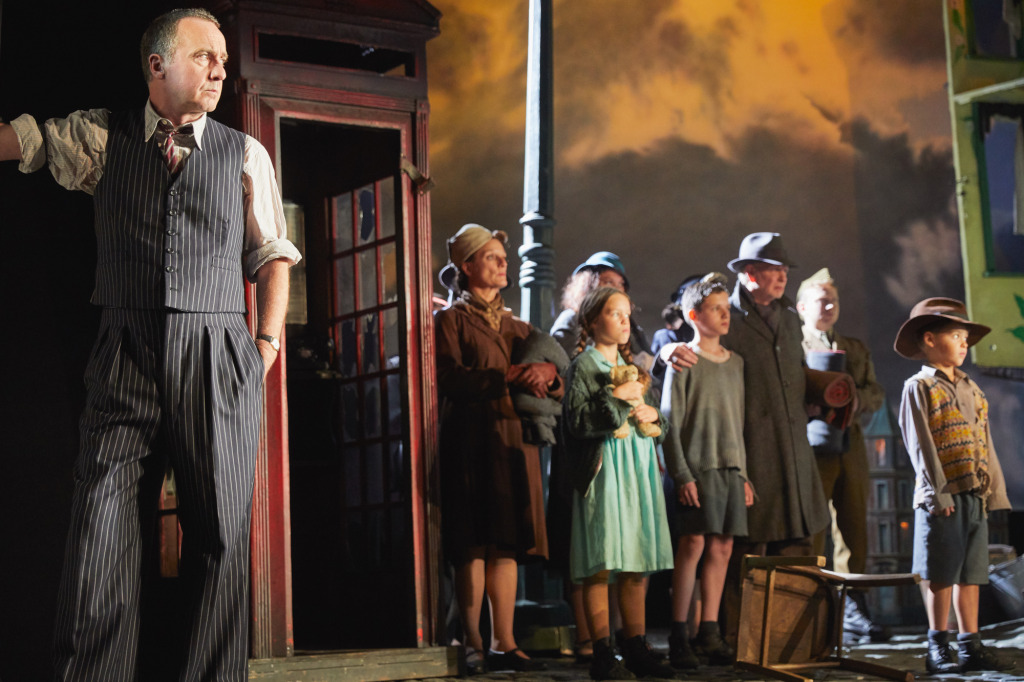 Liam Brennan as the Inspector, on the left. Photo by Mark Douet.