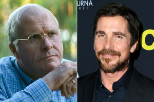 Christian Bale on the right as himself, and the left as Dick Cheney!!!  How miraculous is that?!