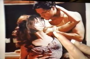 Karen Salkin, showing her doctored Alan Vincent pic on her former televison show. Photo by...Karen Salkin!