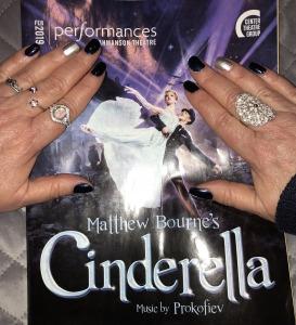 Karen Salkin's nails with the Cinderella program.  Photo by Mr. X.