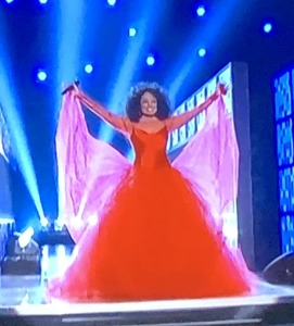 Diana Ross' triumphant entrance. Photo by Karen Salkin.