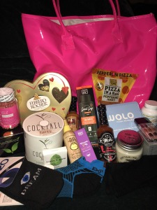 Just some of the highlights of the huge VIP gift bags! Photo by Karen Salkin.