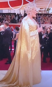 This is the worst outfit Glenn Close has ever worn!  Photo by Karen Salkin.