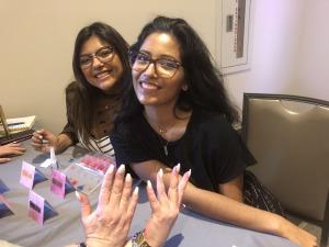 (L-R) Yermin Varela, Laura Varela, and Karen Salkin's nails! Photo by Denise Wilke.