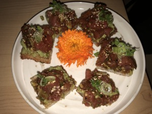 The Avo Tuna Toast. Photo by Karen Salkin.