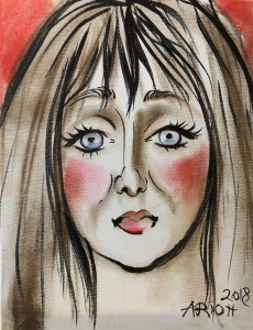 The portrait of Karen Salkin.  Or is it really Lindsey Stirling?