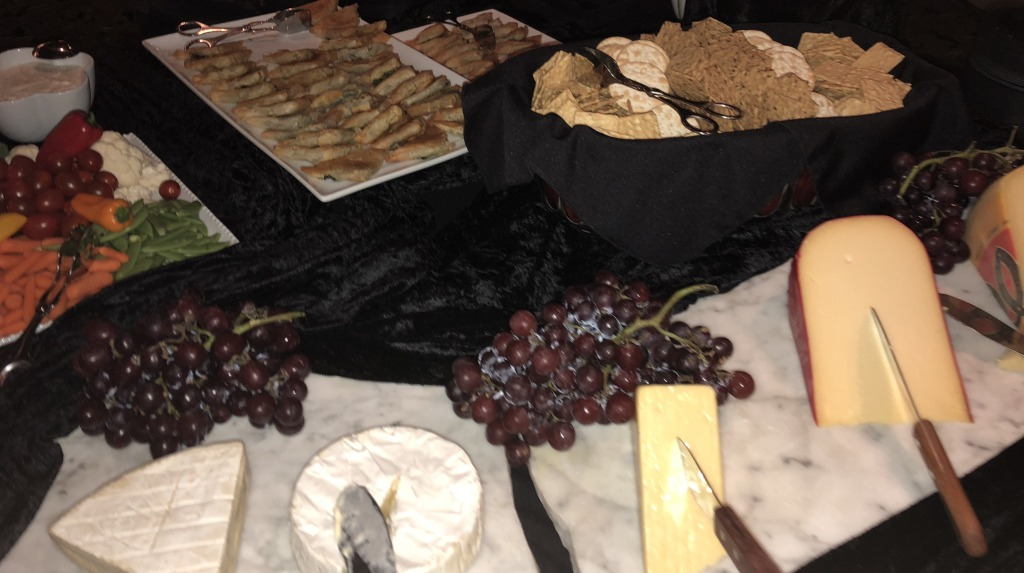 Part of one of the food stations. Photo by Karen Salkin.