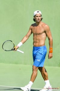 The abs on Feliciano Lopez.  Don't we all wish the men could play without shirts???
