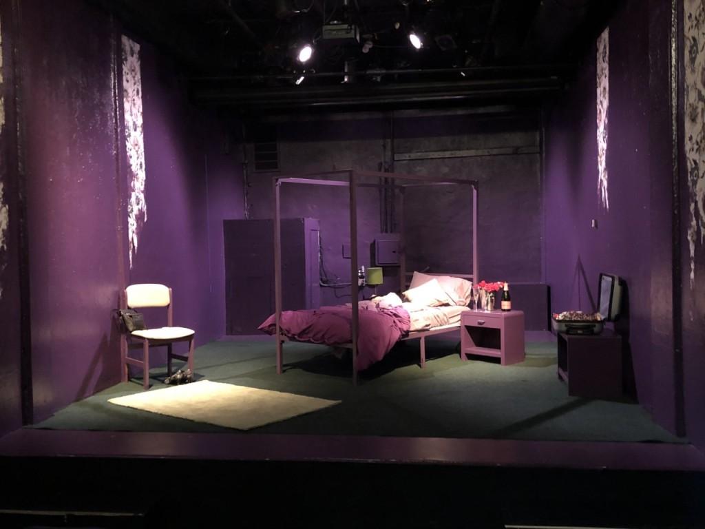 The set.  Photo by Karen Salkin.