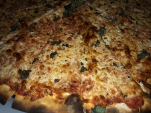 The pizza.  Doesn't it look mouthwatering? Photo by Karen Salkin.