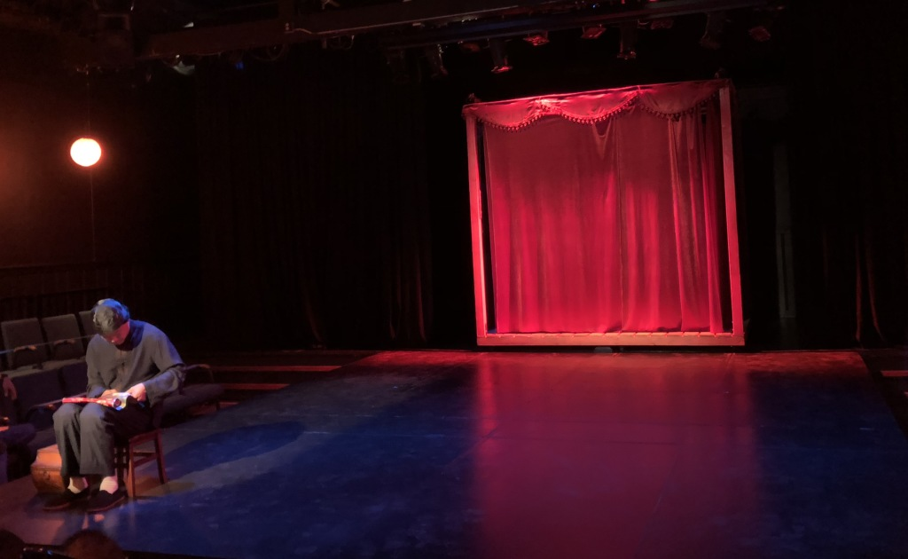 The stage pre-show.  Photo by Karen Salkin.