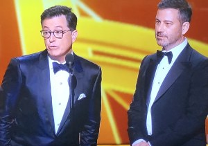 Two presenters who should have hosted instead: Stephen Colbert and Jimmy Kimmel. Photo by Karen Salkin.