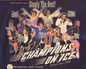 A progam from Champions On Ice.
