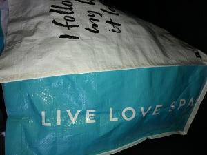 One of the chockfull goodie bags.  Photo by Karen Salkin.