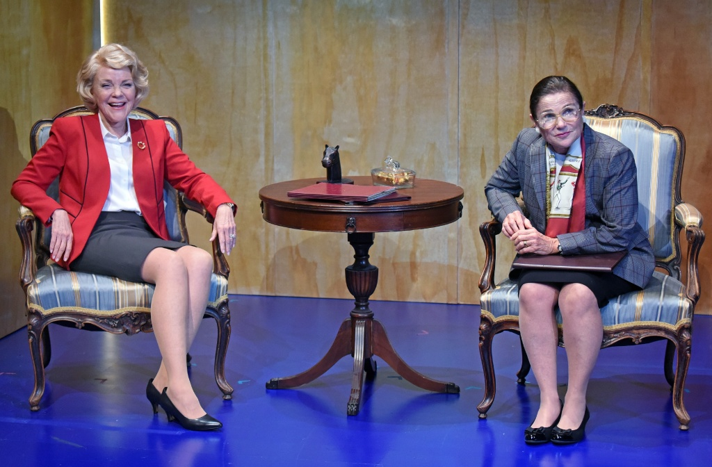 Stephanie Faracy and Tovah Feldshuh.  Photo by Kevin Parry, as is the one at the top of this page.
