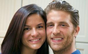 Beautiful couple Courtney Galiano and Jonah Platt.