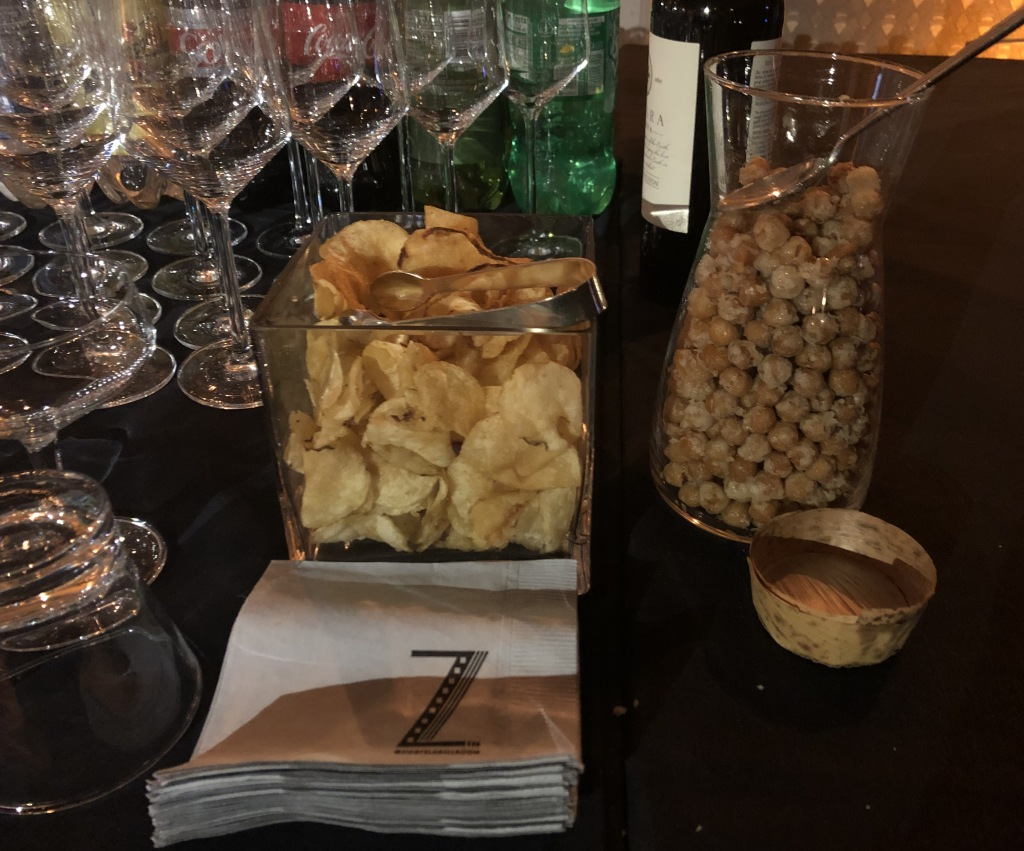 The snacks on the bar. Photo by Karen Salkin.