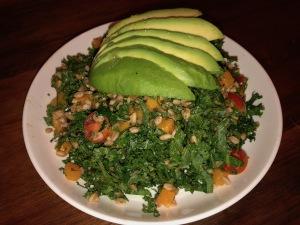 Kale and Farro Salad. Photo by Karen Salkin.