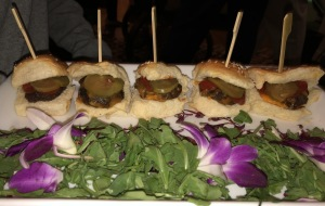 The cheeseburger sliders. Photo by Karen Salkin.