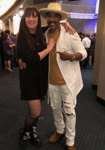 Karen Salkin with Marvin, one of her favorite former hip-hop club dancers. Photo by INAM staff.