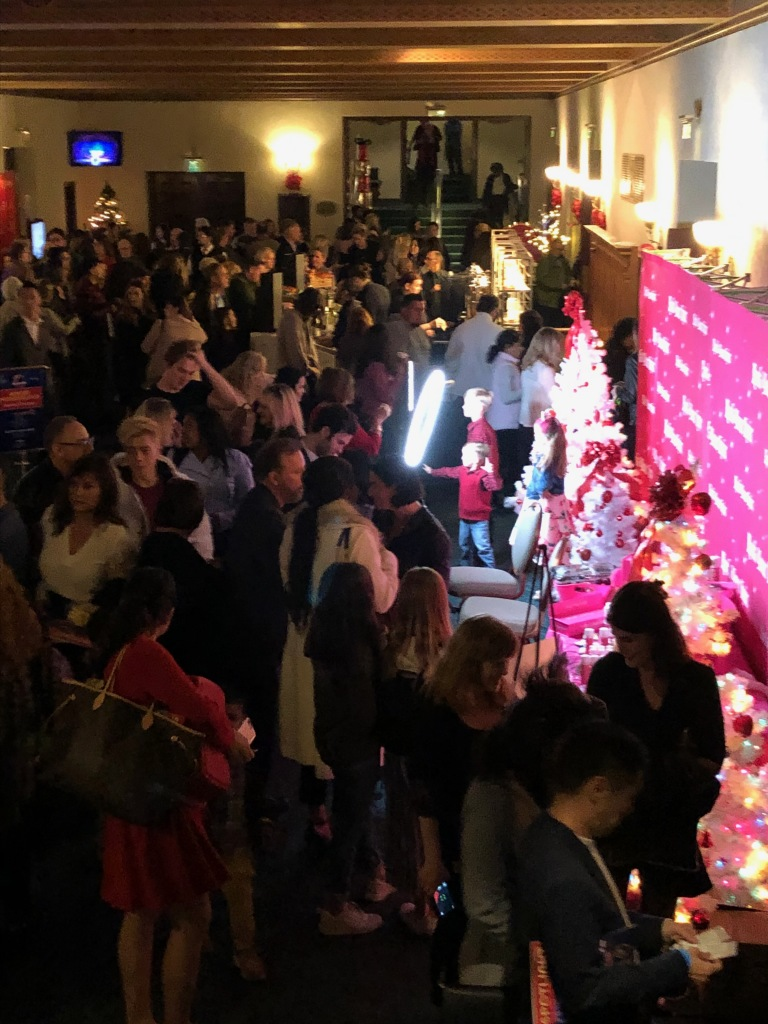 The crazy busy Winter Wonderland lobby on opening night! Photo by Karen Salkin.
