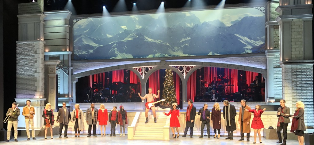The curtain call of Love Actually Live, with a mostly-naked Rex Smith in the center. Photo by Kevin Parry.