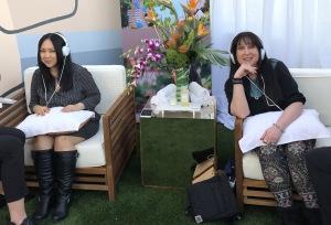Patty Onagan and Karen Salkin enjoying their relaxation. Photo by INAM staff.