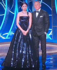 Ana de Armas and Daniel Craig. Photo by Karen Salkin.